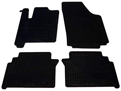 mächtig Gummi-Auto-Matten-Set, 4 Stück, schmal geschnitten, schwarz