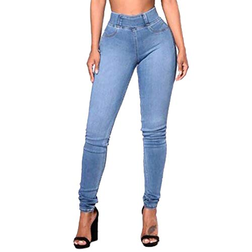 MEIbax Leggings Deportes Pantalones para Mujeres de Mezclilla Pantalón Delgado Bolsillo Tallas Grandes Leggins Jeans Vaqueros Yoga Fitness Gym Classics Skinny de Cintura Alta Mallas de elásticas