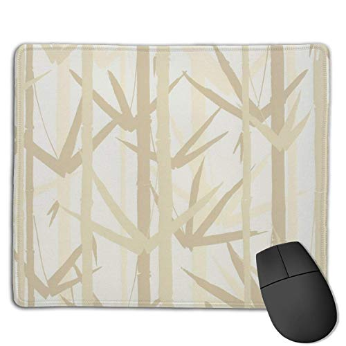 Whecom Gaming Mauspad Schwarz, Bamboo Painting Mouse Mat Personalized Customization Gaming and Office Mouse Mat Stitched Edge Office Thicker Mouse Pad