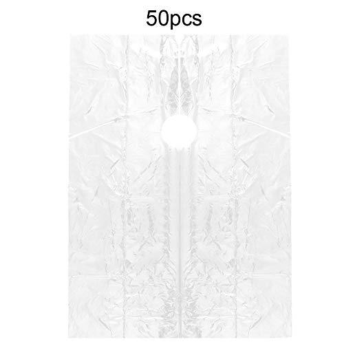 Brrnoo 50 stuks wegwerpschort voor het snijden van haar en kleuren schort waterdicht kappersjurk kappersjurk cape gereedschap barbier 92 x 130 cm