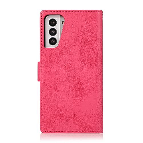 Funda protectora Para Samsung Galaxy S21 Plus Funda de teléfono móvil, 2 en 1 Funda magnética de teléfono móvil de cuero de la PU con tarjeta de teléfono móvil, adecuada para la caja del teléfono Sams