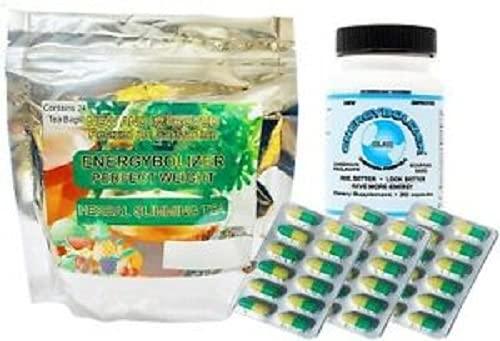 Energybolizer Orange Gel Caps (Now Green and Yellow, Called LS), Slimming Tea & Original