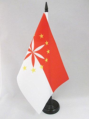 AZ FLAG TISCHFLAGGE ARPITANISCHE 21x14cm - FRANKOPROVENZALISCHE TISCHFAHNE 14 x 21 cm - flaggen