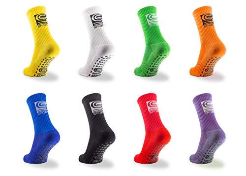 SB Sports ® Anti Rutsch Fußball Socken Sportsocken | rutschfest & elastisch | Herren & Damen | One Size EU 38-46 | Grip Fußballsocken | Tape Fussball Socken | (Grün)