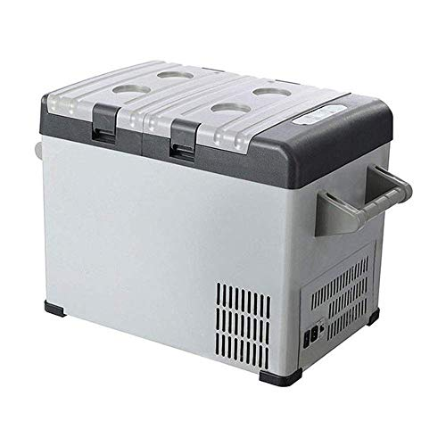 LHQ-HQ Refrigerador del coche, refrigerador portátil de 32 litros de vehículos, coches, camiones, RV, barco, mini nevera congelador for conducir, viaje, pesca, al aire libre o en casa -18 ºC, mini ref
