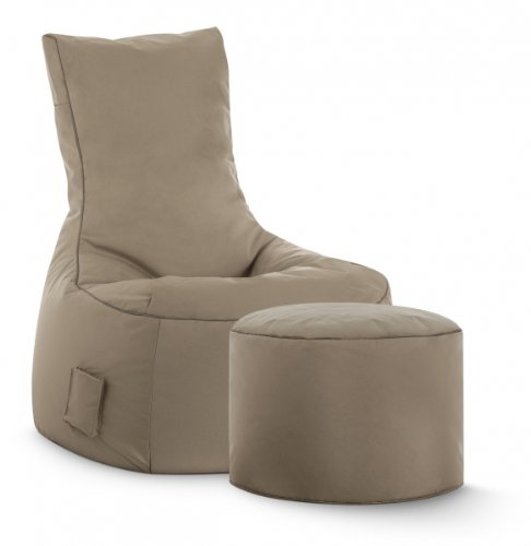 SITTING POINT only by MAGMA Sitzsack-Set Scuba Swing + Hocker Khaki