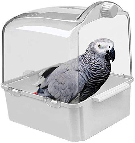 2 en 1 Baño de Aves Caja de alimentación para Mascotas Durable y fácil de Usar Jaula de pájaros Caja de baño de baño 29x28x23.5cm para lorzo de pájaro Canario de periquitos, etc. Amazing