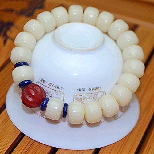 MLJSX armband Natuurlijke Witte Armbanden mannelijke Model Mode Sieraden Bodhi Zaad Armband Mannen Bodhi Boeddha Kraal Stijl Hand String