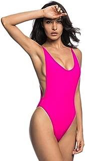 BEESCLOVER Red Black high Cut Leg one Piece swsuit feimmale Swimwear Women Bathing Suit Swim Bather for Booty Women Monokini K113