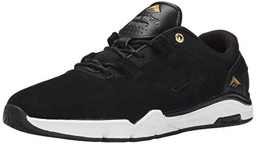 Emerica Herren 's The Brandon Westgate Skateboarding Schuhe, schwarz (Schwarz/Weiß/goldfarben) - Größe: 38 EU