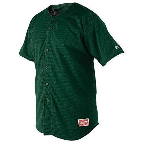 Rawlings Youth Full Button YBJ167 Jersey, Dunkelgrün, Jugendliche, Größe L