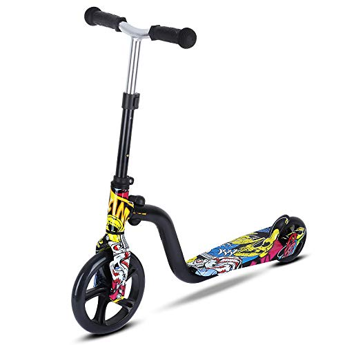 Honorall Scooter for Kids Big Wheels Scooter Folding Kick Scooter for Toddlers 3-8 Year with Adjustable Height Lightweight Scooter