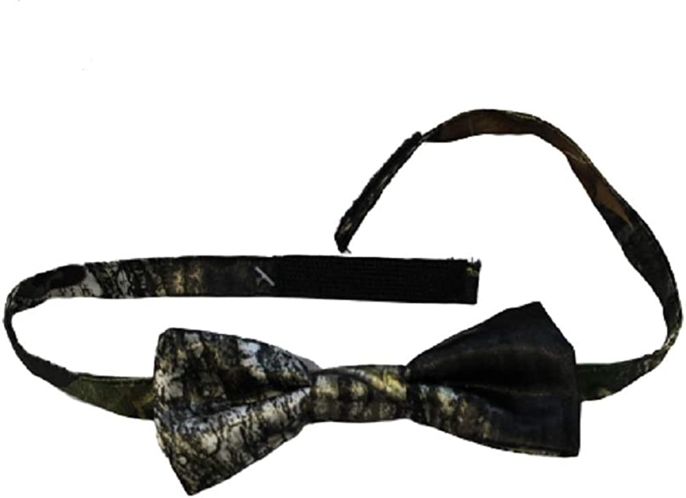 Mossy Oak Camo Bow Tie Bowtie Mens Pre-Tied Quality Break Up Satin with Adjustable Vel-cro Back Bow Tie Custom Made in the USA