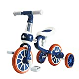 XJD 三輪車 子供 幼児用 ランニングバイク ベビーウォーカー 3in1キッズバイク 多機能 ペダルなし自転車 キックバイク 1-5歳に向け 変身バイク 軽量 ノーパンクタイヤ サドル調整可能 組み立て簡単 (ブルー)