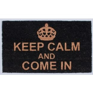 Paillasson Keep Calm and Come In Noir 70 x 40 cm (99134111)