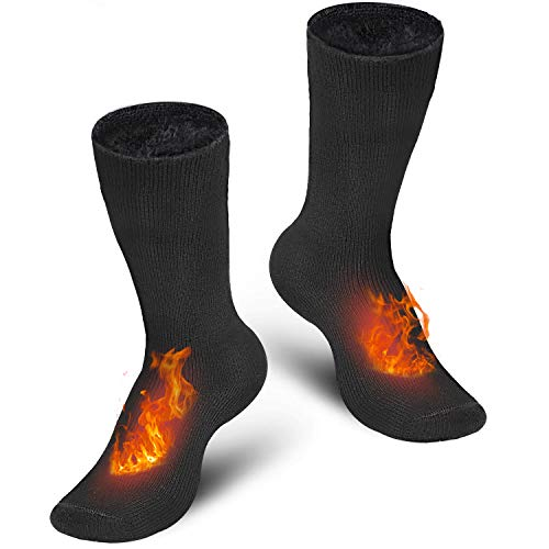 Pvendor Thermal Socks for Men, 2 Pairs of Heated Socks for Women Extreme Cold Insulated Fuzzy Winter Socks