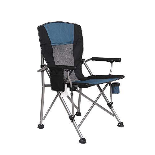 YBWEN Silla plegable portátil, plegable, transpirable, con soporte para tazas, ligera, camping, playa, pesca, taburetes de instalación, silla plegable (color: verde, tamaño: tamaño libre)