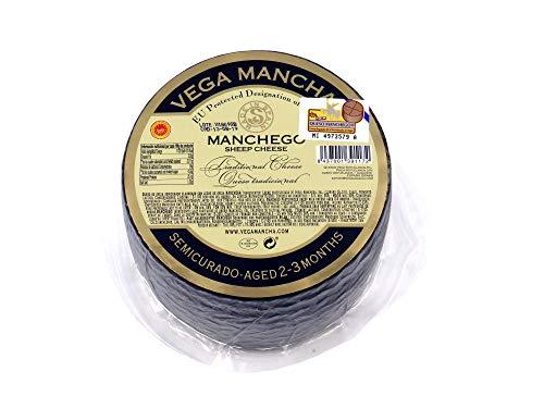 Manchego Käse 2-3 Monate gereift, Schafskäse aus 100% pasteurisierter Manchego Schafsmilch, La Mancha Spanien