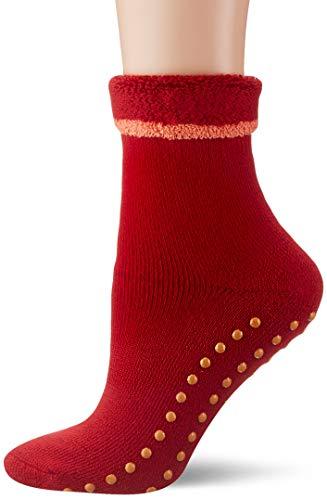ESPRIT Damen Stoppersocken Cosy - Schurwoll-/Baumwollmischung, 1 Paar, Rot (Sporty Red 8003), Größe: 39-42
