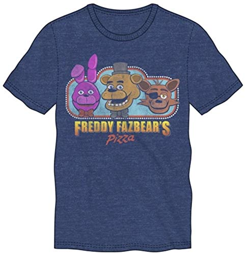Desconocido Five Nights at Freddys Freddy Fazbear's Pizza Blue Men's T-Shirt XX-Large