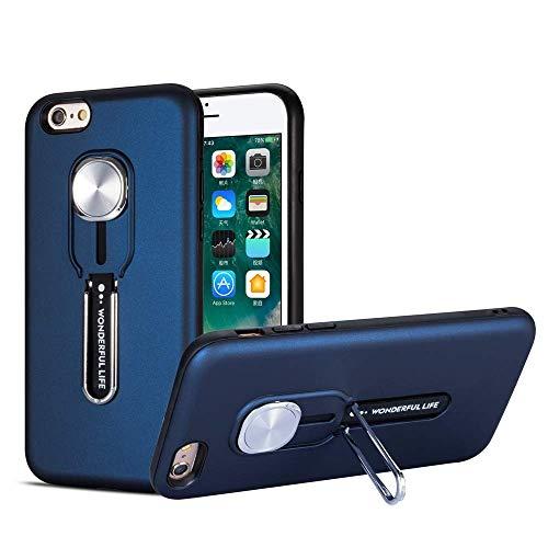 HPPS Funda compatible con iPhone 6S, carcasa ultradelgada y dura, función atril, de silicona, multicolor, resistente al agua, con función atril azul Talla única