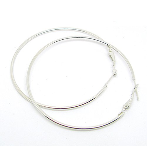 Distinct Elégante Simple Pierced Big Round Hoop Earring