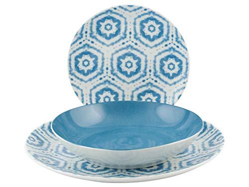 H&H 731402 Niagara - Vajilla de porcelana (18 piezas)