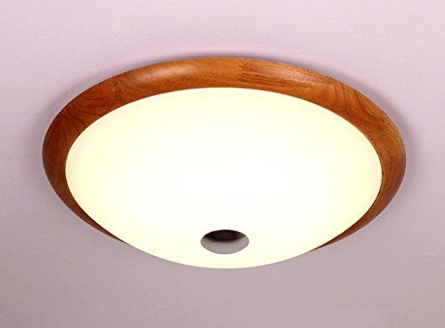 Home mall- LED Plafonnier en bois Moderne Mode Salon Chambre Cuisine Couloir Chambre d'enfants Neutre Lumière (taille : 36cm in diameter)