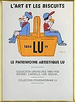 ポスター レイモン サビニャック Liart et les Biscuits 1980 額装品 アルミ製ベーシックフレーム(ゴールド)