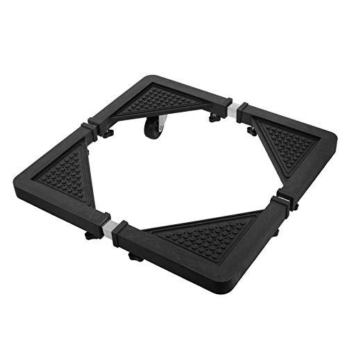 Hemoton Base móvil universal para nevera, soporte multifuncional ajustable, base de rodillo para secadora, lavadora, mini nevera, color negro