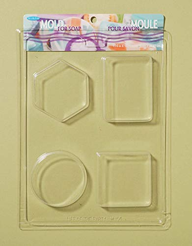 """Life Of The Party Soap Mold 7.75""""X10.25""""-4 Cavity - Shapes"""