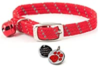 Reflective Elasticated Softweave Cat Collar - Fully slide adjustable to fit Made from a soft yet durable nylon. Collar will not rub against your cats neck making it extra comfy. PLEASE NOTE - We will not send your order until we have received your en...