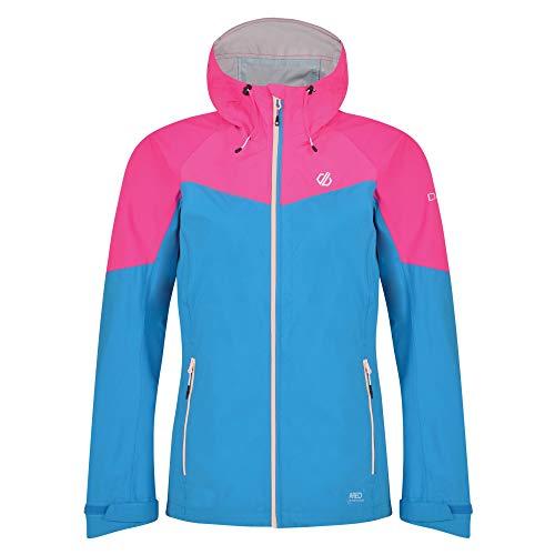 Dare 2b Damen Reconfine Lightweight Waterproof And Breathable Hooded Outdoor Hiking Jacke, Blau (Blue Jewel/Cyber Pink), 42 (Herstellergröße: 16)