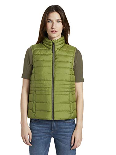 TOM TAILOR Damen Jacken Leichte Steppweste mit Stehkragen Wood Green,S