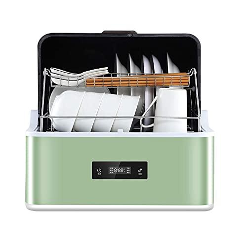 Zheng Hui Shop Lavavajillas Compacto Totalmente automático con depósito de Agua de 6,2 l Integrado, 6 programas, Lavado por aspersión Tridimensional 360 ° (Color : Green, Size : 43 * 42 * 40.9cm)