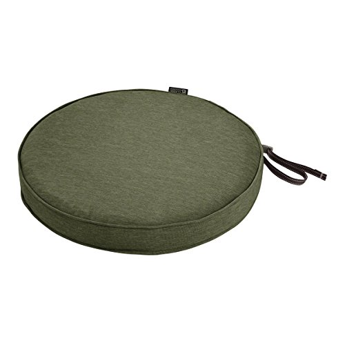 Classic Accessories Montlake Water-Resistant 15 Dia x 2 Inch Patio Dining Seat Cushion, Heather Fern Green