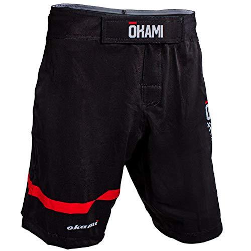 OKAMI Fightgear Herren Fightshorts Competition Basic #1 L Schwarz