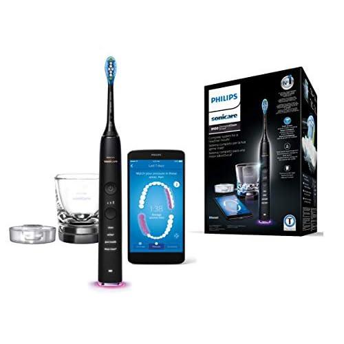 Philips Sonicare DiamondClean Smart HX9901/13 Spazzolino Elettrico Sonico, Connesso all'App, con 1 Testina e Bicchiere di Ricarica
