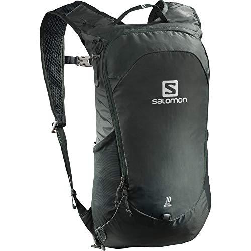Salomon, Zaino multifunzionale Trailbalzer da 10 l, 3D Comfort e Sistema di idratazione, Per Escursionismo e Trail Running, Verde (Green Gables)