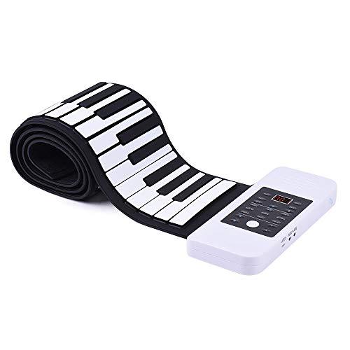 ammoon draagbare siliconen 88 toetsen rol up hand piano elektronisch toetsenbord USB ingebouwde Li-Ion en luidspreker met pedaal