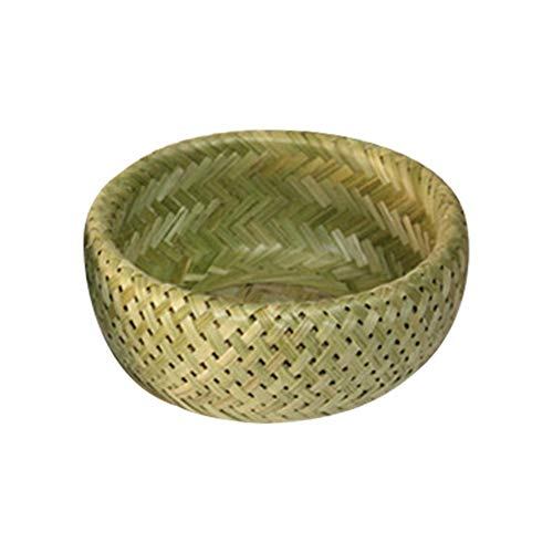 XGZ Bamboo Baskets Hand Woven Double Layer Bamboo Wicker Storage Organisation Baskets Kitchen Storage Hampers For Fruit Candy Cake