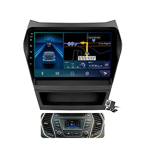 CIVDW Sistema Android 11 de navegación GPS de radio de coche para Hyundai IX45 Santa Fe 3 2013-2016 unidad principal soporta salida RCA completa 5G WiFi Control del volante BT incorporado Carplay Auto