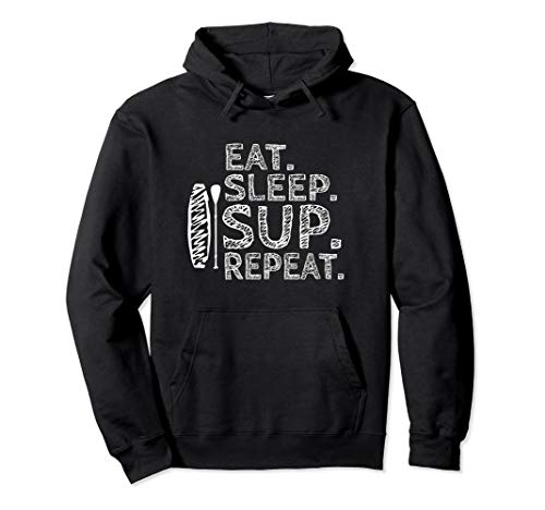 Eat. Sleep. SUP. Repeat - Stand Up Paddling Paddle iSUP Pullover Hoodie