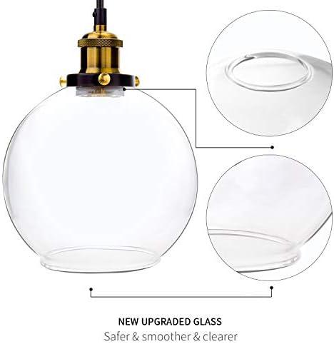 Glass ball pendant light _image0