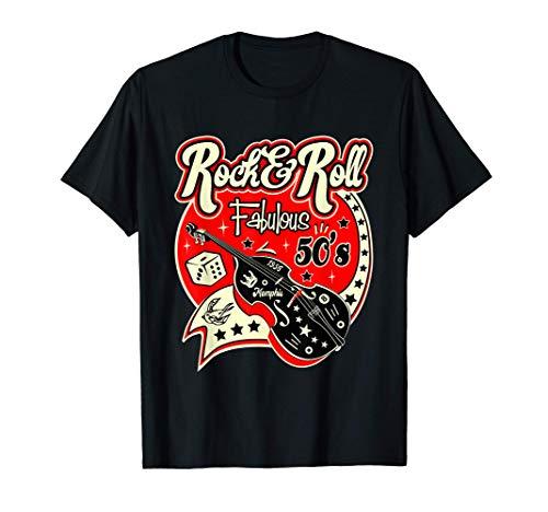 Camisetas Rockabilly Hombre Mujer Rock and Roll Retro 50s Camiseta