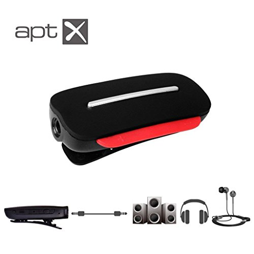 Avantree Clipper aptX Bluetooth Headphone Receiver Adapter and Wireless Clip-on Headset with Built-in Mic, Support Any 3.5mm Audio Devices