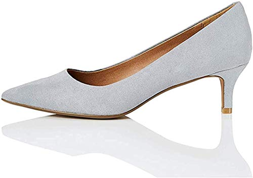 Amazon-Marke: find. CONNIE-S2C1-Court Pumps, Grau (Grey), 39 EU