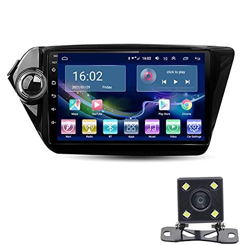 9 'Android 10.0 Car Gps Radio 2.5D Reproductor De Pantalla Táctil, Para Kia RIO 3 2010-2015 Navegador GPS Bluetooth WIFI Reproductor Multimedia Navegación Estére(Size:WIFI 1G+16G,Color:cuatro nucleos)