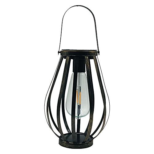 HomeDecTime Lámpara LED Colgante Solar Al Aire Libre Lámpara de Luz Cálida de Jardín a Prueba de Agua para Jardín