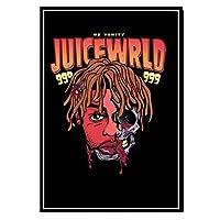 ミュージックラッパーシンガースタージュース新しいWRLDキャンバス絵画アートポスター家の装飾リビングルームソファ壁の装飾写真50x 70cmフレームなし